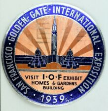 1939 Golden Gate Expo Fair Libbey Owens Ford LOF Vintage Original F41