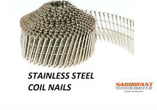 STAINLESS STEEL 2.1/38MM CONICAL WIRE COLLATED COIL NAILS - 1 COIL