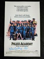 STEVE GUTTENBURG Signed 11x17 Movie Poster POLICE ACADEMY Autograph BECKETT COA