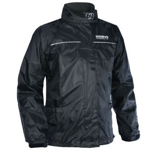 Oxford Rainseal Waterproof Motorcycle Motorbike Over Jacket - Black - RM100