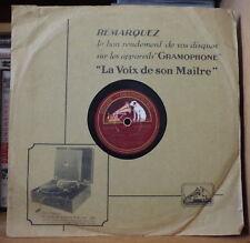 COMEDIAN HARMONISTS QUINTETTE VOCAL LES GARS DE LA MARINE FRENCH 78rpm GRAMOPHON