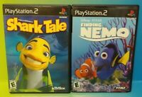 Disney Shark Tale + Finding Nemo -  PS2 Playstation 2 Game Lot Tested Complete