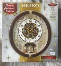 Seiko QXM491BRH Special Edition Motion Clock with 18 Melodies, Great
