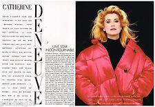 Coupure de presse Clipping 1989 (7 pages) Catherine Deneuve
