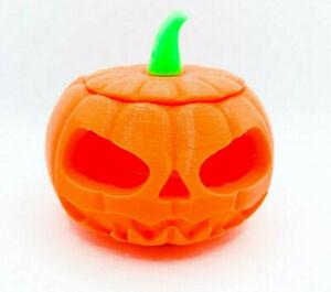 Halloween Pumpkin LED Tea Light Candle Jack O' Lantern Multi Colours Glow Dark