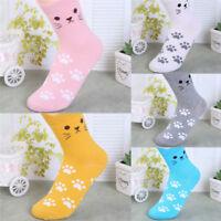 Candy Color Cat Footprints Socks Cute Women Cotton Socks Warm Lovely Cute SoBIUJ