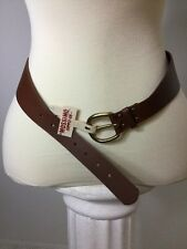 New Mossimo Women's Size L Brown Leather Belt with Elastic Back Stretch USA