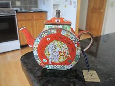 "Charlotte di Vita Miniature Teapot ""COOL CATS""  Original Certified Tag   #A508"