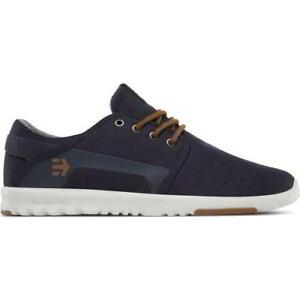 Etnies Scout Mens Vegan Navy Blue Gold Skate Shoes Trainers Size 8-13