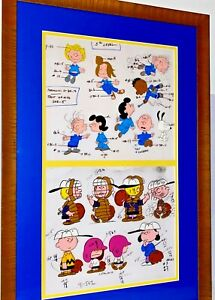Peanuts Cel It's Spring Training Charlie Brown Original Animation Art Model Cell