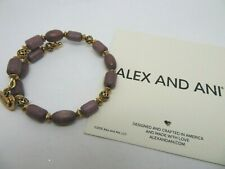 Alex and Ani Woodland Hush Wrap Ebony Wood Beaded Bracelet Wrap new - No tag