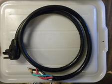 Black Round Range Cord, 6', 6/2 & 8/2 Srdt, Right Angle Male Plug, Apollo, Used