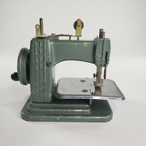 Vintage Miniature Betsy Ross Green Sewing Machine Made In USA Parts only