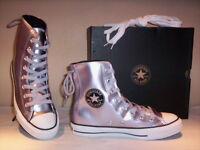 Scarpe sportive alte sneakers Converse All Star CT Slouchy HI donna grigie n. 39