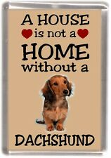 """Dachshund Dog Fridge Magnet No.3.  """"A HOUSE IS NOT A HOME"""" by Starprint"""