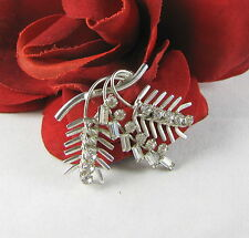 Sterling Silver Sparkling Baguettes Pin Brooch Feral Cat Rescue