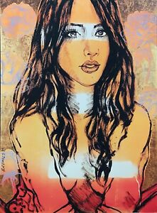 """DAVID BROMLEY Nude """"Zippora"""" Signed Limited Edition Print, 90cm x 70cm"""