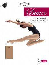 Silky Adult Dance Shimmer Gloss Shine Pantyhose Footed Tights XL Toast
