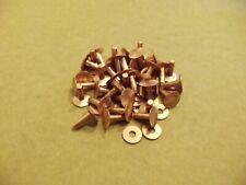 "New listing Copper Rivets & Burrs 1/2"" 9 Gauge Sca (75 Pack)"
