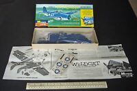 Grumman F4F Wildcat US Navy Carrier Fighter. Monogram 1st Issue 1960s Vintage.