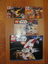 LEGO STAR WARS 7667 7931 9488 9674  Lot of INSTRUCTION MANUALS ONLY