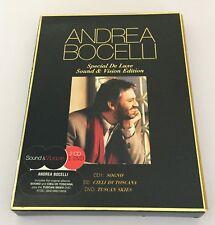 COFFRET DIGIPAC 2 CD + DVD ANDREA BOCELLI SPECIAL DE LUXE SOUND & VISION EDITION