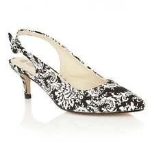 Dolcis Seneca Black and White Kitten Heels Size 3 LAST PAIR THIS SIZE!!!!