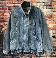 Vintage Ruth Douglas T.M. New York 80s Acid Wash Denim Jean Jacket Womens Sz L