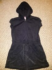 girls 6/7 JUSTICE black terry cloth swimsuit cover