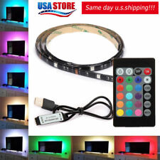 USB Powered Computer TV Backlight Kit RGB 5050 LED Light Strip Colour Change
