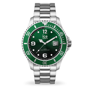 Ice Steel Men's Medium Green Dial Silver Bracelet Watch 016544 RRP £99