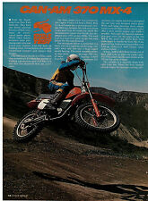1978 Can-Am 370 MX-4 test article 6 pages Vintage: AHRMA 400 MX5 MX6
