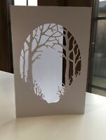 "3 Forest Trees Aperture Greeting Card + Envelopes 4""x6"" C6 Birthday Card Making"