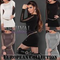 NEW SEXY tunic JUMPER DRESS size 6 8 10 12 SWEATERS for WOMEN CLOTHING XS S M L