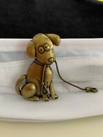 JJ JONETTE Signed VINTAGE Take This PUPPY for a Walk!! Brooch Pin