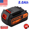 20V 5.0AH MAX Lithium-Ion Battery For Black & Decker LBXR20 LB2X4020-OPE LCS1620