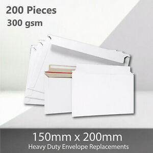 200x Card Mailer 150 x200mm 300gsm Heavy Duty Envelope Tough Bag Replacements