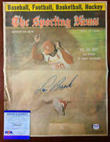 Lou Brock PSA DNA Coa Hand Signed 1974 Vintage Sporting News Cover Autograph
