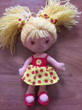 Lemon Meringue Strawberry Shortcake 6.5 Inch Plush Doll 2004 By Ban Dai