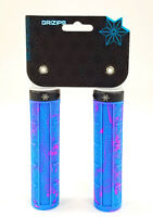 SUPACAZ SPLASH GRIZIPS 32mm Lock-on MTB Grips Neon Blue/Pink Splash