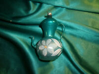 ~ antike Christbaumkugel Formteil Glas Kanne Kaffeekanne Kännchen blau Lauscha
