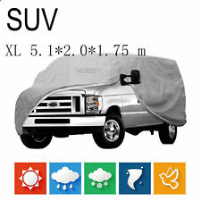 SUV Waterproof Full Car Cover Van Truck Dust UV Resistant Rain Indoor Outdoor