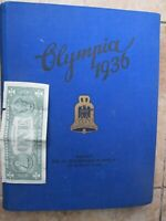 EXCELLENT COND. 1936 Book, BAND2 German SUMMER Olympics, RARE JESSE OWENS PHOTOS
