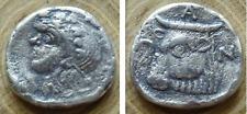 Panticapaeus Bosporus Tridrachma Silver (294-284 BC) Head of a beardless Satyr i