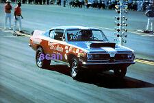 SOX & MARTIN 1969 1/2 PLYMOUTH ROAD RUNNER CAR STOCK RACING PRO NHRA PHOTO