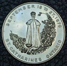 1970 ST. CATHARINES - NIAGARA GRAPE & WINE FESTIVAL MEDAL - HUGE - Wine Country