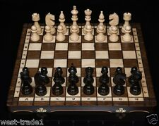 Brand New ♞ Hand Crafted Club Style  Wooden Chess Set 42.5cm x 42.5cm ♔