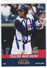 Daniel Fields Signed Toledo Mud Hens 2015 Choice Card Detroit Tigers