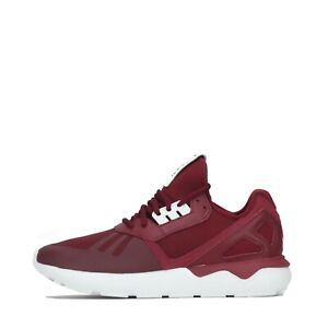 adidas Originals Tubular Runner Men's Trainers Shoes Burgundy UK 7.5