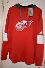 Detroit Red Wings adidas Mens Blue Line Premium Hooded Sweatshirt L